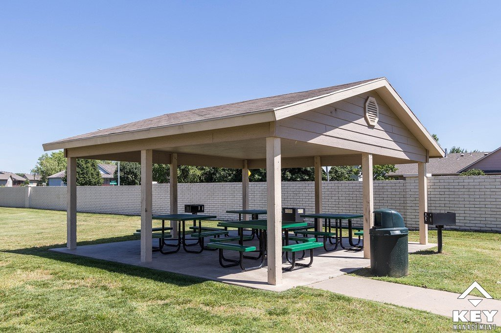 Covered Picnic Shelter : Springcreek apartments townhomes key management